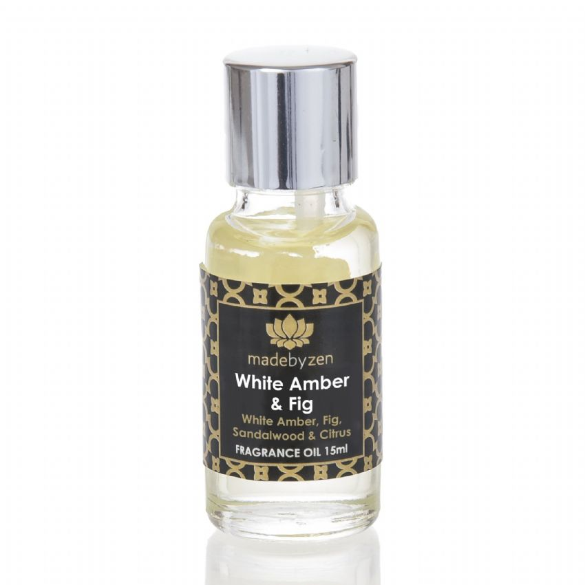 WHITE AMBER & FIG - Signature Scented Fragrance Oil Made By Zen 15ml